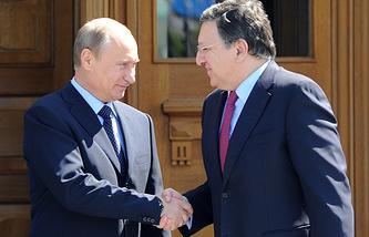 Владимир Путин и Жозе Мануэл Баррозу