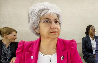 Флавия Панзиери на специальной сессии Совета ООН по правам человека