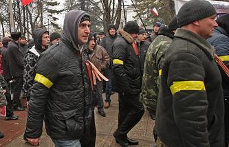 Представители самообороны Крыма, архивное фото, февраль 2014 года