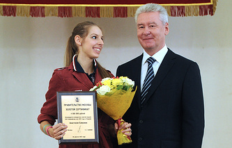 Анастасия Близнюк и мэр Москвы Сергей Собянин