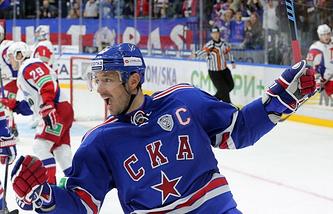 Форвард СКА и сборной России Илья Ковальчук