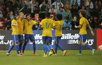 Футболисты сборной Бразии