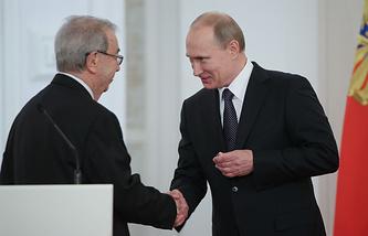 Академик РАН Евгений Примаков и президент России Владимир Путин