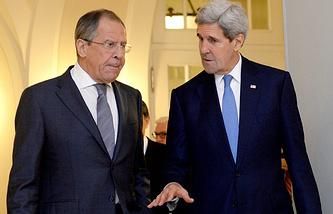 Сергей Лавров и Джон Керри, Австрия, 2014 год