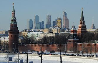 Москва. Вид на Кремлевскую набережную