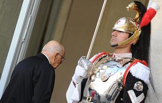 Переизбранный президент Италии Джорджо Наполитано принес присягу