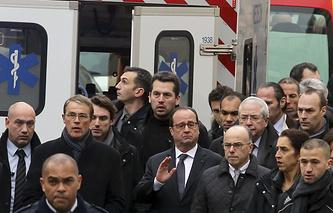 Франсуа Олланд на месте происшествия