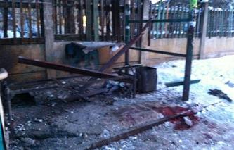 После взрыва на остановке в Ангарске