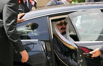 Король Саудовской Аравии Абдалла. 2007 год