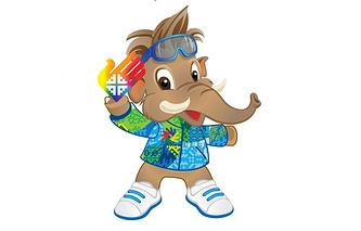 Мамонтенок - символ Сурдлимпиады-2015 в Югре