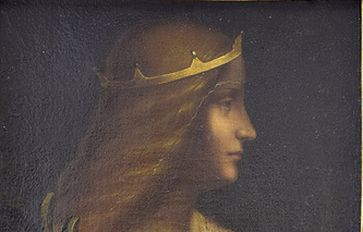 """Портрет Изабеллы д'Эсте"" кисти Леонардо да Винчи, фрагмент"