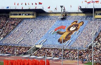 Во время церемонии закрытия Олимпийских игр 1980 года в Москве