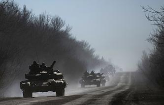 Украинские военные в районе Артемовска