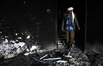 Последствия авиаударов ВВС Израиля в Йемене
