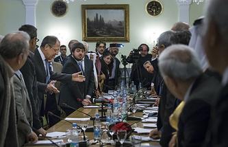 Во время встречи представителей сирийской оппозиции и правительства Сирии
