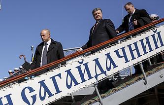 Президент Украины Петр Порошенко в Одессе