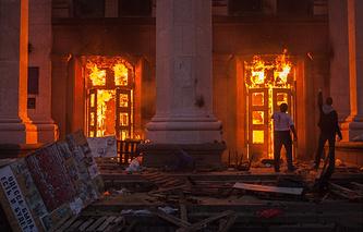 Пожар в Доме профсоюзов в Одессе, 2 мая 2014