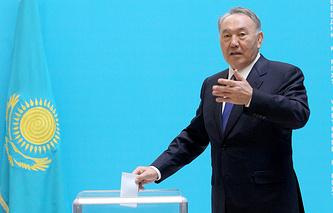 Нурсултан Назарбаев на президентских выборах