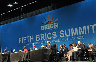 На заседании саммита  БРИКС