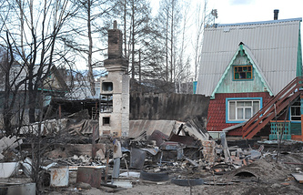 Последствия пожаров в Забайкальском крае