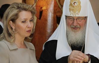 Светлана Медведева и патриарх Московский и всея Руси Кирилл