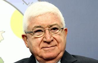 Предидент Ирака Фуад Маасум