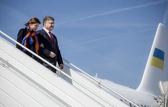 Президент Украины Петр Порошенко и его супруга Марина Порошенко