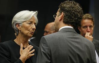 Глава Международного валютного фонда Кристин Лагард и министр финансов Нидерландов Йерун Дейсселблум