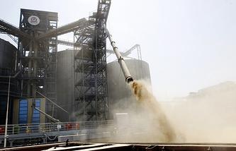Отгрузка зерна на экспорт