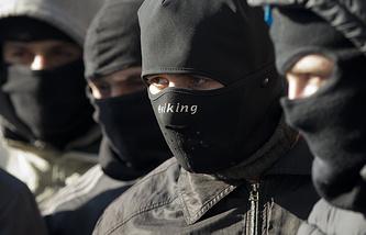 """Члены радикальной группировки """"Правый сектор"""""""