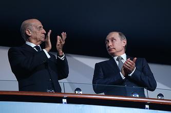 Владимир Путин во время церемонии открытия чемпионата мира по водным видам спорта