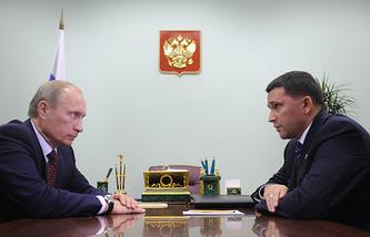 Президент России Владимир Путин и врио главы ЯНАО Дмитрий Кобылкин