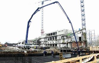 Начало строительства Центрального стадиона в Екатеринбурге