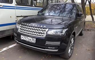 Автомобиль Range Rover Амирана Георгадзе, обнаруженный на 26-м километре Новорижского шоссе