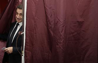 """Лидер партии """"Республиканцы"""" Николя Саркози"""