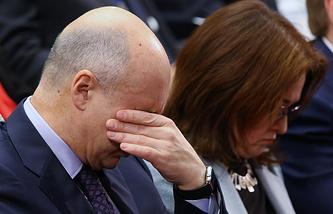 Министр финансов РФ Антон Силуанов и председатель Центрального банка РФ Эльвира Набиуллина