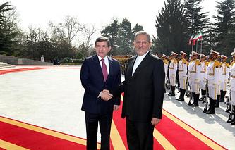 Ахмет Давутоглу и Эсхак Джахангири