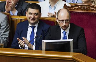 Владимир Гройсман и Арсений Яценюк