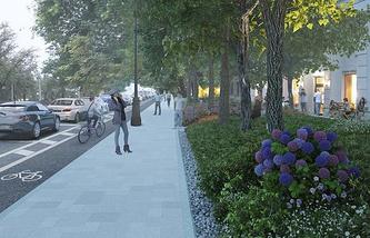 Визуализация проекта реконструкции Чистопрудного бульвара