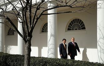 Синдзо Абэ и Дональд Трамп