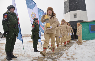 Церемония зажжения огня зимних Всемирных военных игр, 12 февраля