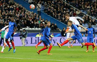 Фрагмент матча Франция - Россия