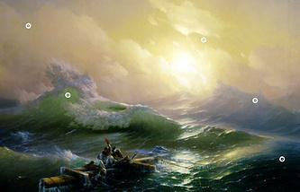 """И.К. Айвазовский """"Девятый вал"""", 1850 г."""