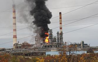 Пожар на Саратовском нефтеперерабатывающем заводе, 2012 год