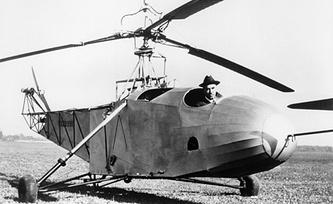 Сикорский в кабине вертолета VS-300. Фото ИТАР-ТАСС