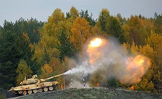 """Танк """"Т-90МС"""" на IX Международной выставке вооружения Russia Arms EXPO. Фото ИТАР-ТАСС/ Владимир Смирнов"""