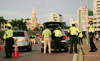 Картахена в дни проведения 82-й Генеральной ассамблеи Интерпола. Фото EPA/RICARDO MALDONADO ROZO