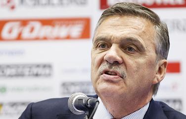 Президент Международной федерации хоккея (IIHF) Рене Фазель