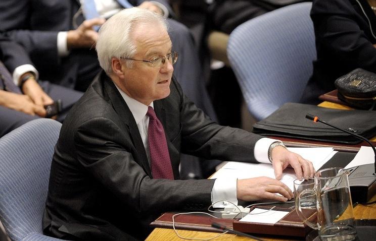 Russia's Ambassador to the UN Vitaly Churkin