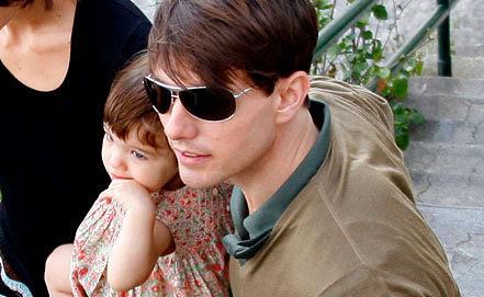 Том Круз с дочерью Сури. EPA